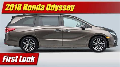 First Look 2018 Honda Odyssey Testdriventv