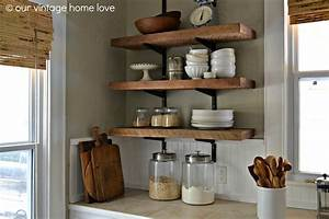 our vintage home love: Reclaimed Wood Kitchen Shelving