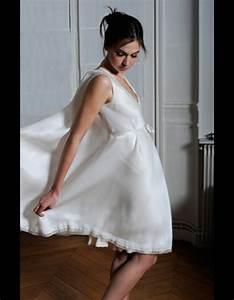 robe courte en organza et crepe de soie odile leonard 50 With robe en crepe de soie