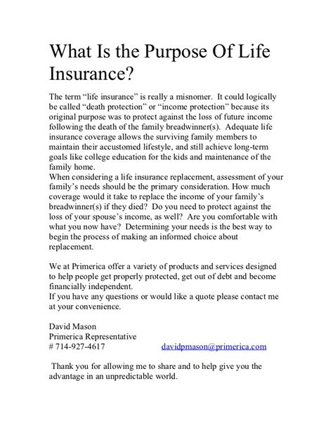 what is the purpose of insurance