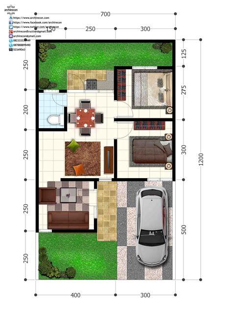 perumahan green land villa denah type  denah lantai