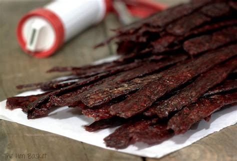 Beef jerky can be a great snack. The Hen Basket: Homemade Beef Jerky