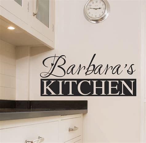 personalised kitchen wall sticker art quotes decals  ebay