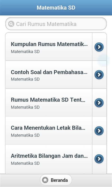 rumus matematika sd smp sma android apps on play