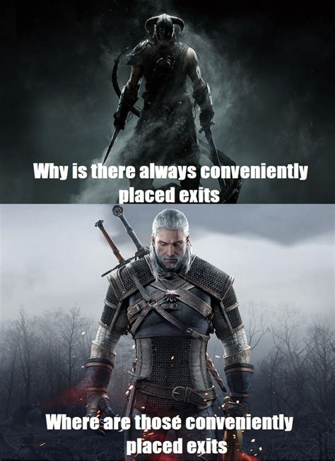 Skyrim Caves Vs Witcher Caves