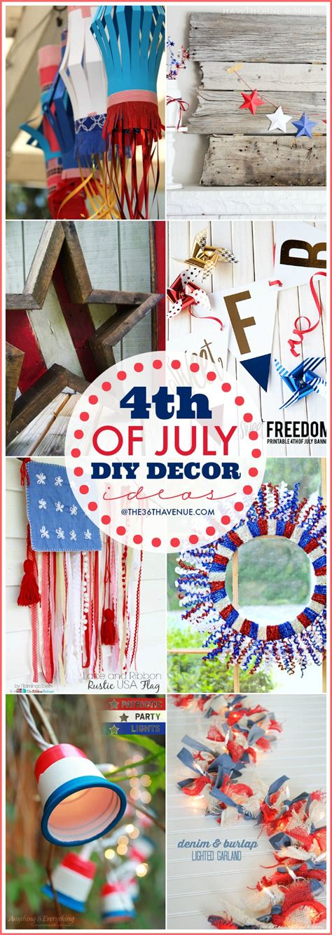 4th of july decorations diy fourth of july diy decor the 36th avenue