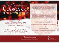 An invitation to a Christmas Preparation retreat