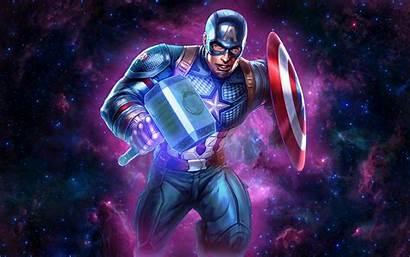 Captain America Shield Hammer Mjolnir Desktop Marvel