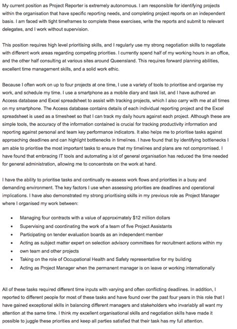 selection criteria  prioritising skills original cv templates cover letter