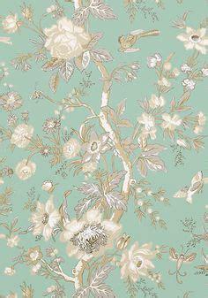 wallpaper pink red blue green floral vine  blue birds butterflies  yellow floral yellow