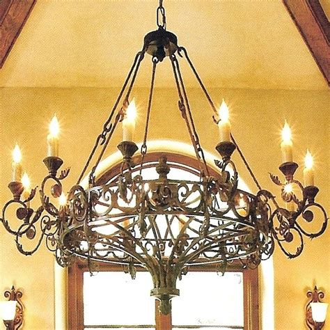 chandelier astounding rustic wrought iron chandelier