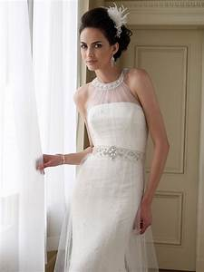 Beautiful strapless wedding dress with halter high neck for High neck halter wedding dress