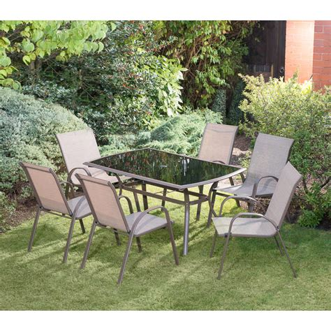copenhagen patio set 7pc garden outdoor furniture