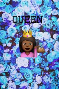 Cute Emoji Queen Wallpaper