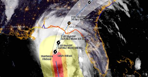 Path Of Category 4 Storm Moves
