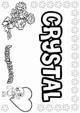 Crystal Coloring Name Names Crystals Sheets Designlooter Hellokids Letter Drawings sketch template