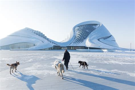 Opernhaus In Harbin by The Breathtaking Harbin Opera House In China By Mad Architects