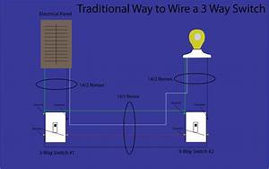 3 Way Switch Wiring Diagram With 1 Light