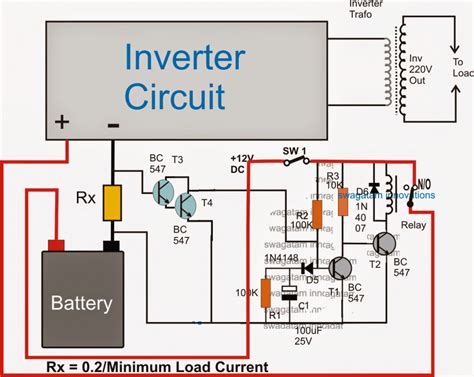 Load Detector Cut Off Circuit For Inverters