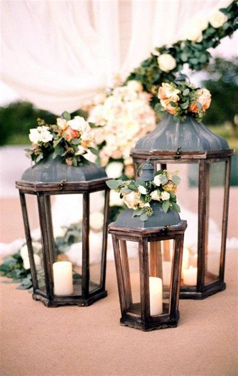 Outdoor Wedding Table Lanterns