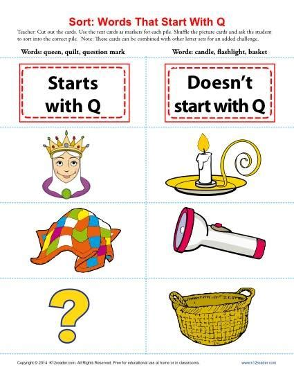 words with letter q words with the letters q and x letter of recommendation 25758 | words starting with letter q beginning consonant worksheets words with the letters q and x words with the letters q and x