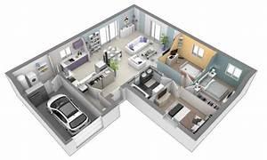 Plan De Maison Avec 3 Chambres   L U2019embarras Du Choix   En