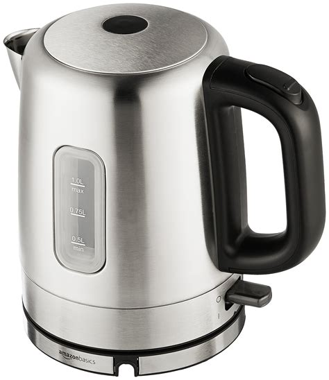 kettle electric stainless steel liter amazonbasics amazon policy