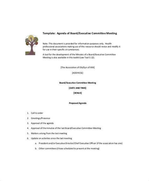 blank meeting agenda templates  sample