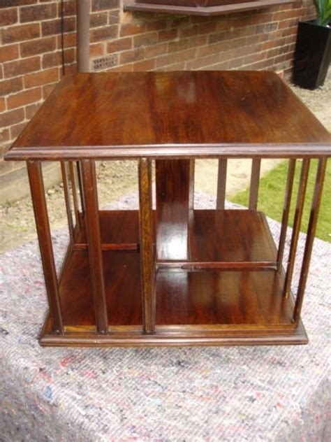 Table Top Bookcase by Edwardian Mahogany Table Top Revolving Bookcase 115961