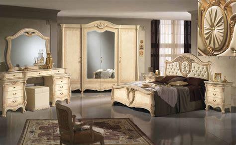 Komplett Schlafzimmer Schrank Bett Kommode Spiegel Luxus Stil Klassik Italien