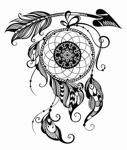 Dreamcatcher Drawing Designs Tattoos Clipartmag