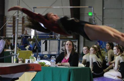 gymnastics judges judging alicia meet columbian coaches often double area