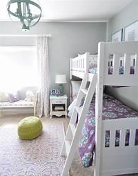girls bunk beds Lavender + Blue Girl's Room | Centsational Girl