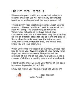 preschool welcome letter by to teach their own tpt 298 | original 2037042 1
