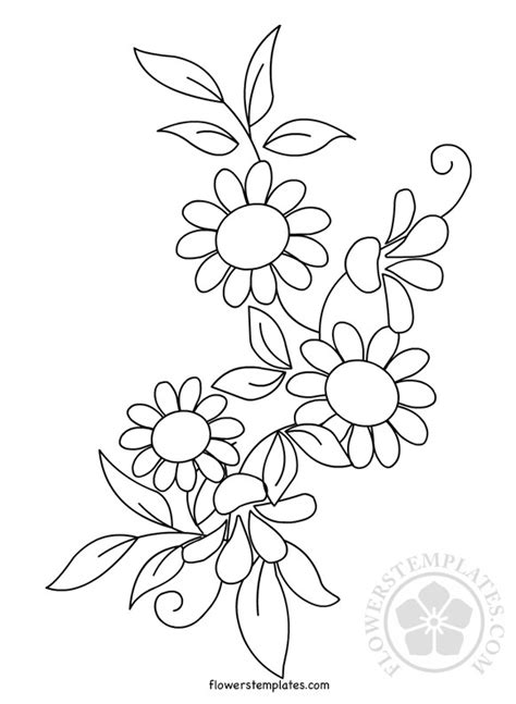 Our designs are made by professionals using the. Floral Pattern Embroidery printable   Flowers Templates