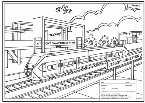 Trein Kleurplaat Ns by Tekening Trein Beste Kleurplaat Trein Dubbeldekker