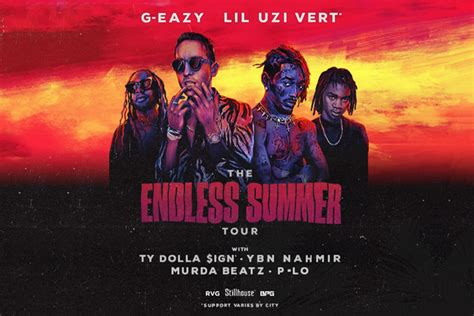 G-EAZY: The Endless summer Tour with Lil Uzi Vert, Ty ...