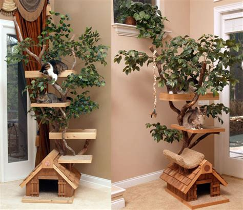 tree cat house cat tree houses spoiled sweet or spoiled rotten popsugar pets