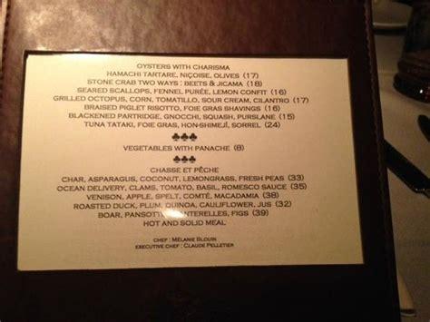 chaise peche menu picture of le chasse et peche montreal