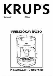 Krups F920 User Hun Service Manual Download  Schematics  Eeprom  Repair Info For Electronics Experts