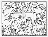 Line Nativity Drawing Jesus Manger Coloring Crib Getdrawings Pages sketch template