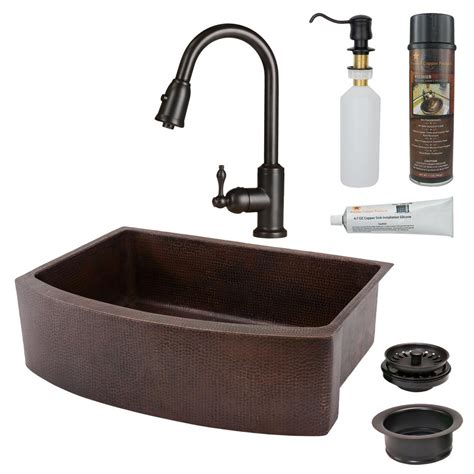 Copper Kitchen Sink Faucet by Copper Kitchen Sinks Kitchen The Home Depot