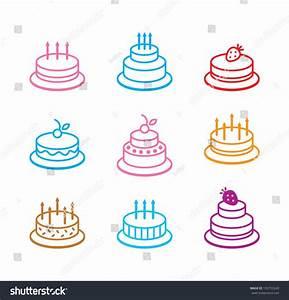 Birthday Cake Icon Stock Vector 155753243 - Shutterstock