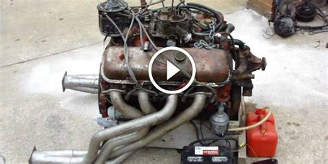Noisy Powerhouse! Hot Rat Rod 1970 Big Block Chevy Engine