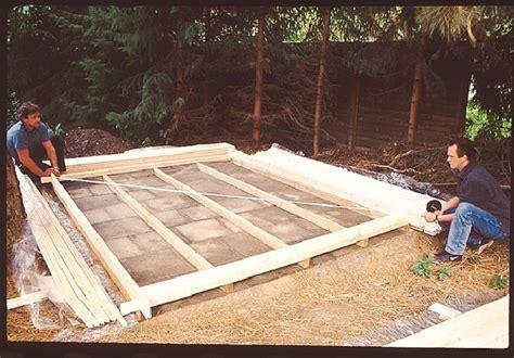 Fundament Geräteschuppen Holz by Fundament Holz Angebot
