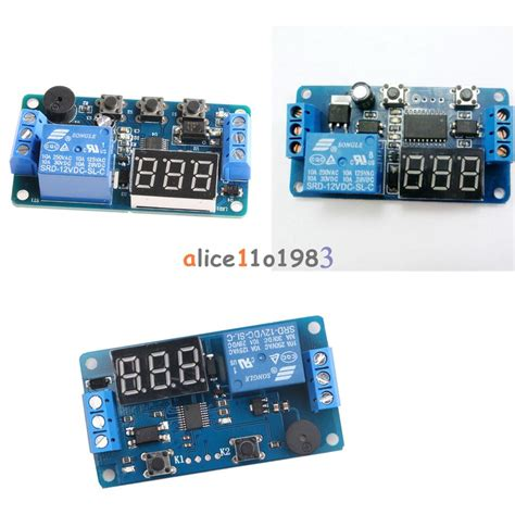Display Led Timer Relay Programmable Board Buzzer