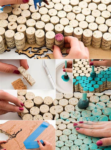 bilderwand selber machen basteln mit korken 30 kreative und einfache bastelideen