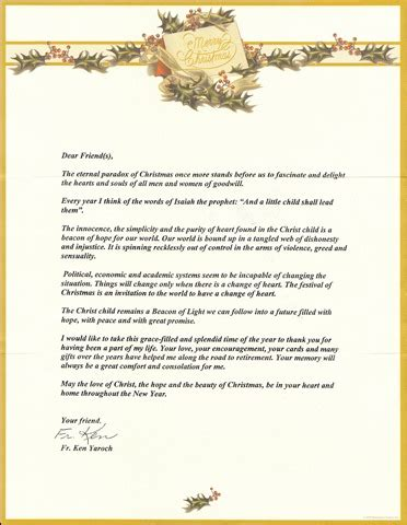Letter Merry Christmas Friends