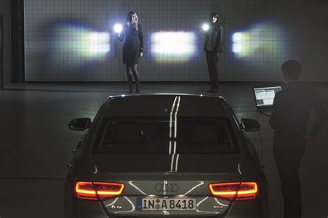 audi matrix headlights audi attempts to add matrix lighting technology to its
