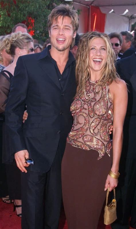 But let's go back to sunnier, happier times when jennifer aniston stood on a bluff in malibu and said. Jennifer Aniston and Brad Pitt's Quotes About Each Other ...